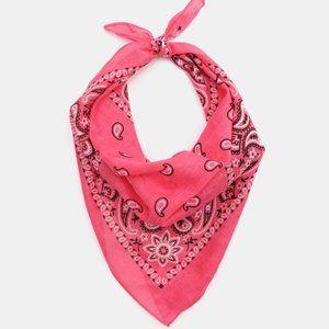 Pink Bandana with Paisley Print
